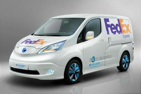 Nissan y FedEx están probando la furgoneta eléctrica Nissan e-NV200