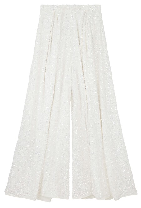 Asos Edition Wide Leg Embellished Bridal Trouser Gbp95 Mid Feb