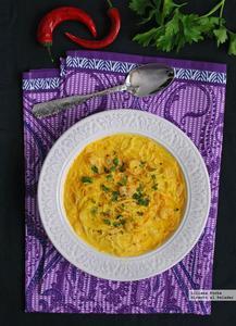 Sopa picante de fideos de arroz y gambas. Receta