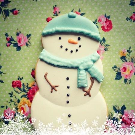 galleta-muñeco-de-nieve