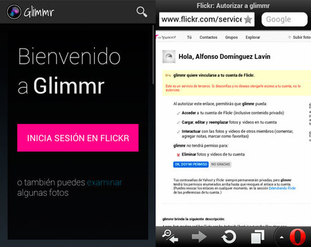 Glimmr para Android, análisis