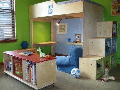 Una buena idea: la zona de estudio debajo de la cama