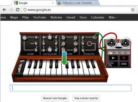 Convierte tu navegador en un sintetizador con el Doodle dedicado a Robert Moog