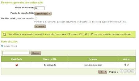 Configuración servidor Web Zentyal