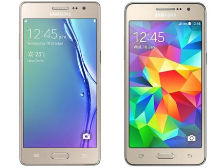 A la izquierda el Samsung Z3, a la derecha el Samsung Galaxy Grand Prime