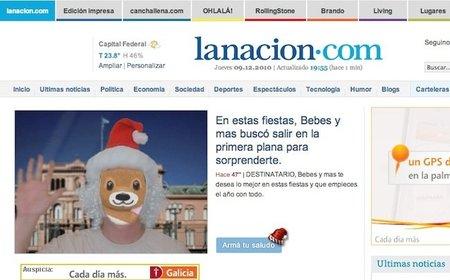 Felicita la Navidad con un saludo en el periódico
