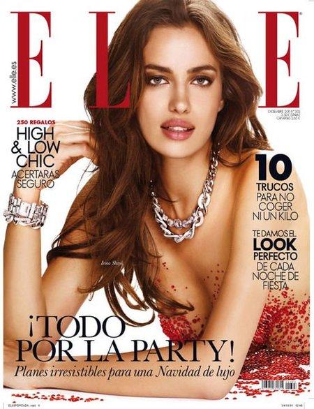 Irina Shayk se cubre de gloria y cristalitos para la revista Elle