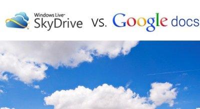 Frente a frente de servicios en la nube: Google Docs versus SkyDrive/Office web (Parte 1)