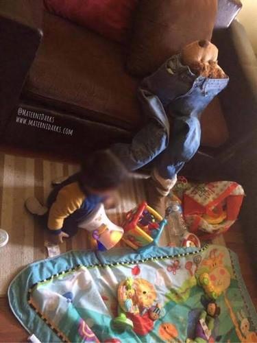La ingeniosa solución de una madre desesperada para poder tener unos minutos a solas