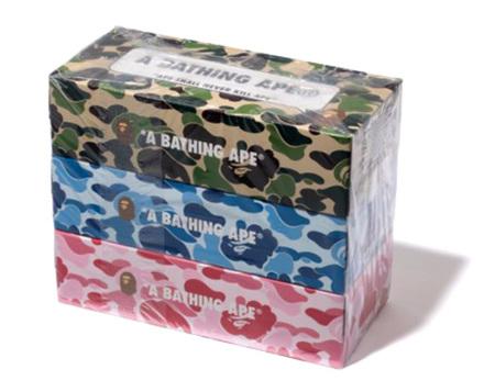 Pañuelos de papel de camuflaje de A Bathing Ape