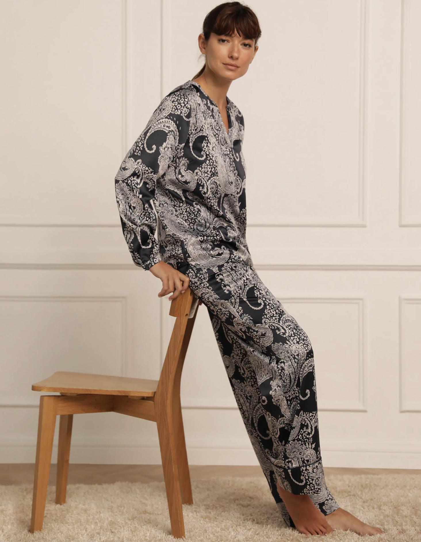 Pijama de mujer Tejido Soft de raso estampado