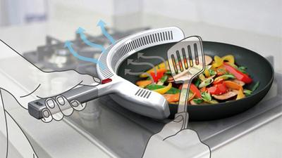 Conceptos innovadores para el hogar inteligente: una sartén para cocinar sin humos