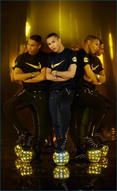 Otro matrimonio ideal: Olivier Rousteing, de Balmain, diseña una colección especial para Nike