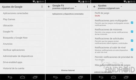 Ajustes De Google 6 1