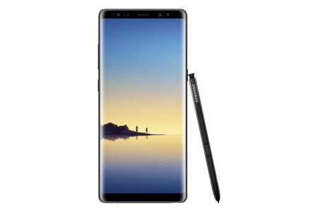 Galaxynote8 Front Pen Black Hq