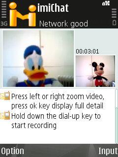 Vídeo y chat en Symbian con imiChat