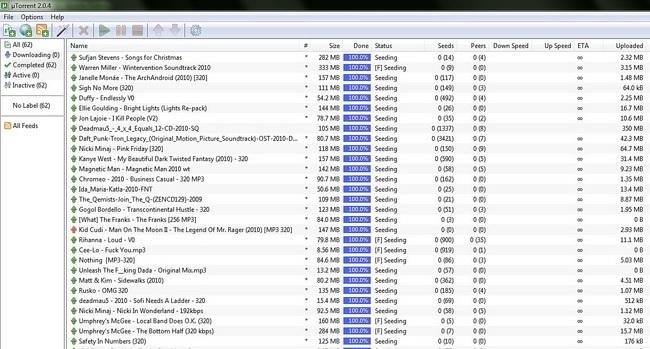 utorrent torrents descargas p2p