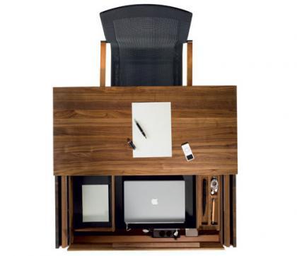 Un escritorio para la falta de espacio