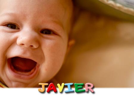 Los nombres de bebé más utilizados en España: Javier