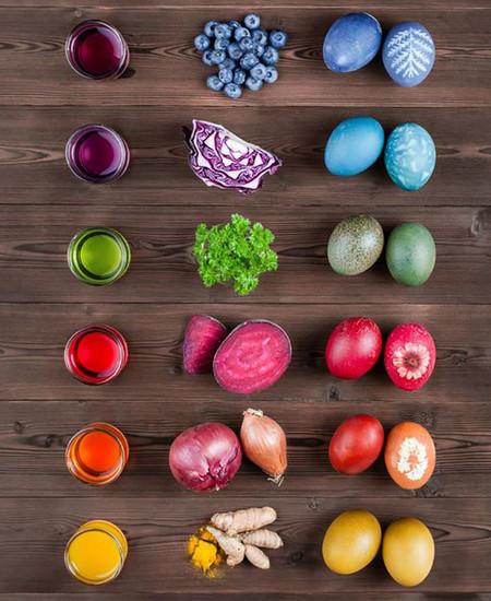 Huevos Tenidos Con Tintes Naturales