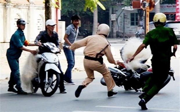 Policía con red