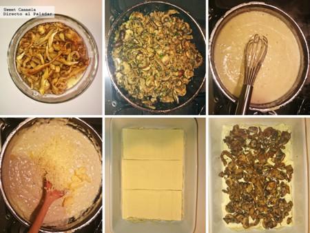 Preparacion Lasana Hongos
