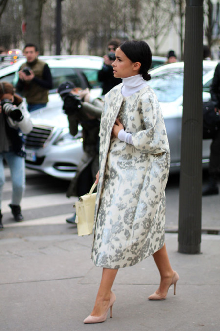 Street Style Semana de la Moda de París: Miroslava Duma, una de las reinas