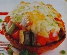 Verduras con queso de cabra en cazuelitas fría-caliente