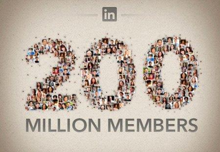 LinkedIn supera los 200 millones de usuarios, infografía