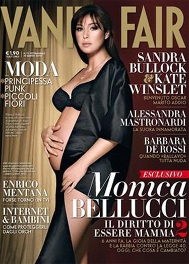 Monica Bellucci posa embarazadísima y muy sexy para Vanity Fair