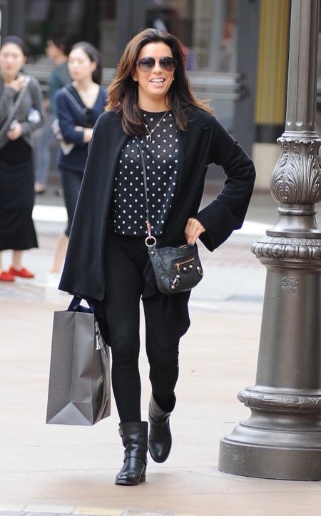 Eva Longoria Total Look Negro