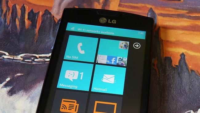 lg windows phone teléfono smartphone
