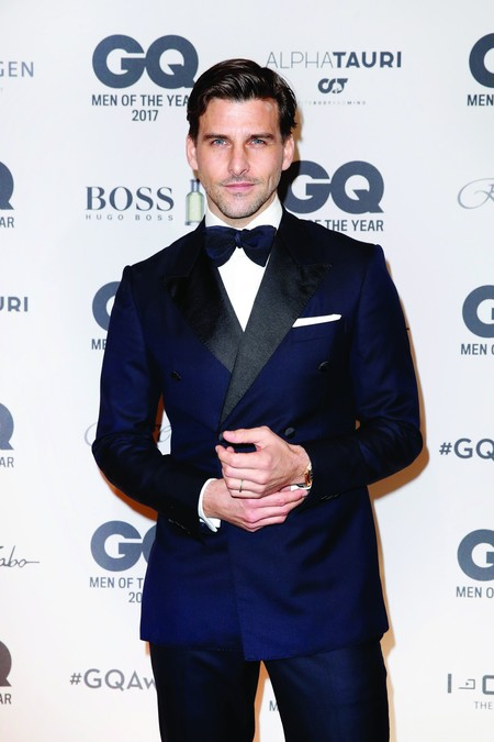 David Gandy Arnold Schwarzenegger Y Thom Browne Gq Men Of The Year Awards Germany