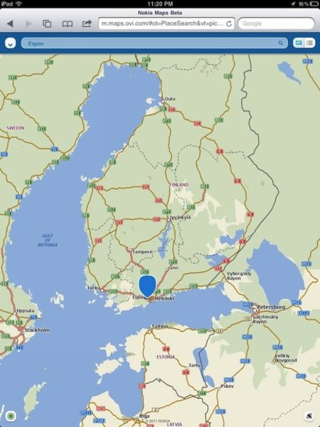 Nokia Ovi Maps iOs