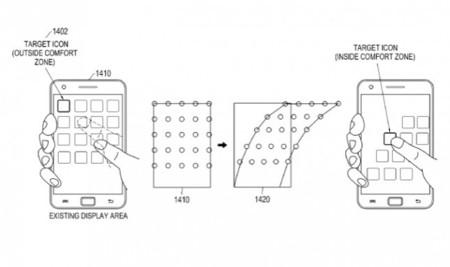 Samsung patenta una interfaz para el funcionamiento a una sola mano con el pulgar