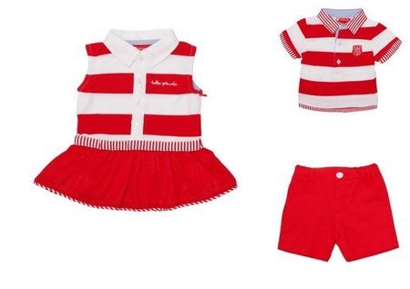 b290df38c Moda Verano 2014 para bebés y niños: conjuntos para hermanos o gemelos