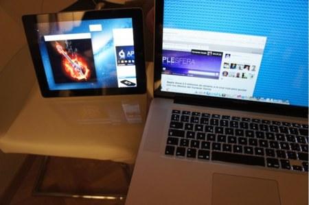 Con el Display en modo apaisado y modo extensión del escritorio