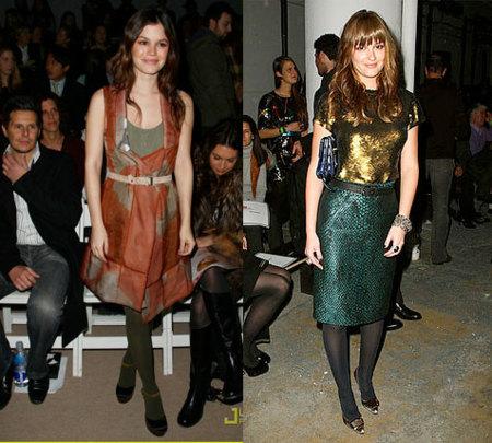 Rachel Bilson y Leighton Meester en el front-row de la Semana de la Moda de Nueva York