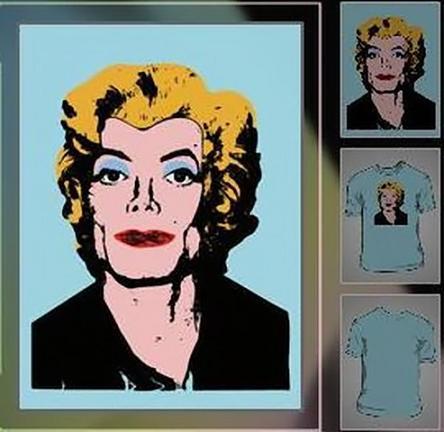 Camiseta que mezcla a Michael Jackson y Marilyn Monroe