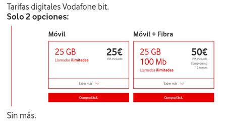 Tarifas Vodafone Bit
