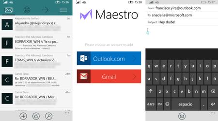 Ya se puede probar Maestro, un nuevo cliente de correo para Windows Phone 8.1