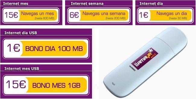 LlamaYa estrena tarifas de Internet móvil