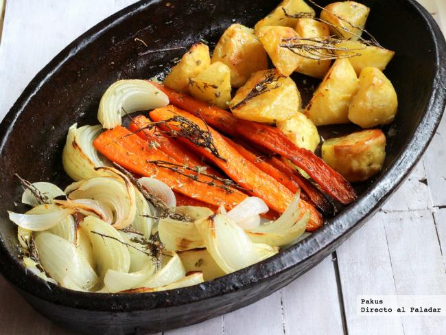 Una guarnici n id nea para acompa ar los asados receta - Cocinar verduras al horno ...