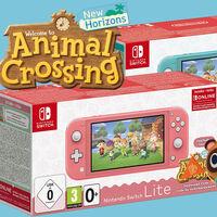 Nintendo Switch Lite con Animal Crossing: New Horizons y tres meses de online a su precio más bajo en Amazon