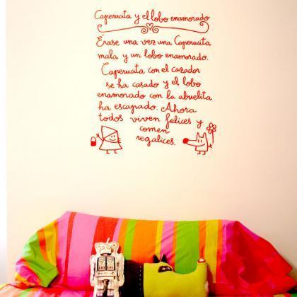 Vinilos de cuento para las paredes de la habitaci n infantil for Frases para cuartos de ninas