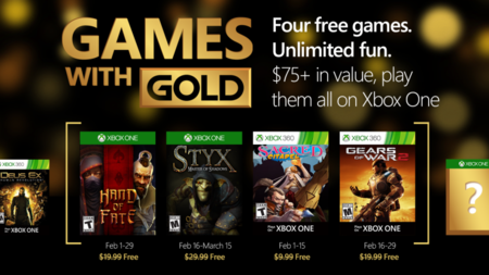 Gears of War 2 y Styx: Master of Shadows lideran la lista de los Games With Gold del mes de febrero
