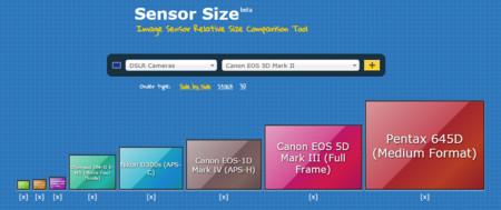 Tamaños de sensor