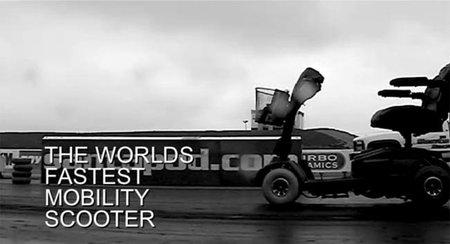 Récord de velocidad con un carrito motorizado