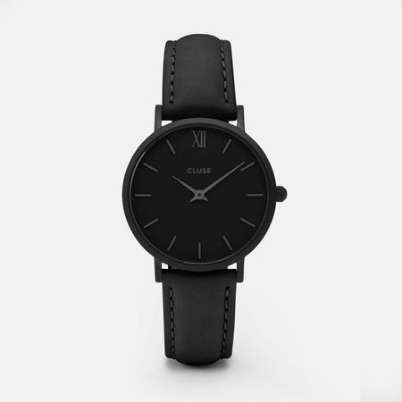 Por 59,90 euros podemos hacernos con el Reloj para mujer Minuit Full Black de Cluse en Amazon
