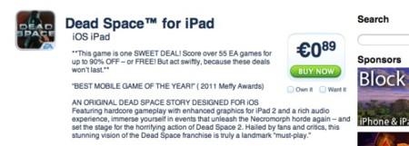 EA rebaja sus juegos para iOS, títulos imprescindibles a sólo 0,89 euros de forma temporal